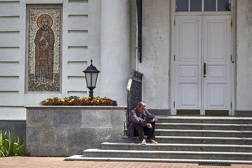 Church, Temple, The Beggar, Religious, Russia
