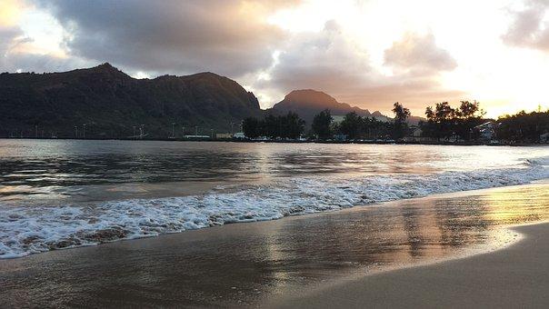 Hawaii, Beach, Sunset, Vacation, Tropical, Ocean