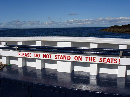 Boat, Seat, Sign, Sky, Water, Travel, White, Ship
