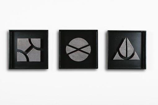 Frames, Wood, Geometric, Circle, Framed