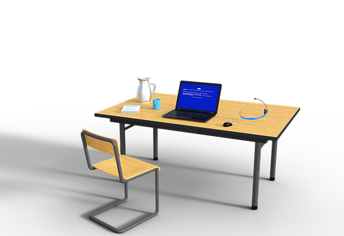 Workplace, Training, Online, Laptop, Notebook, Headset
