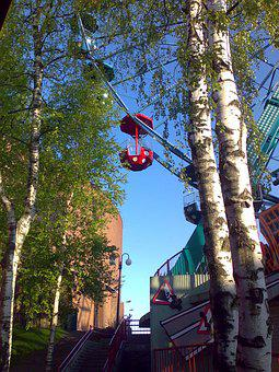 Linnanmäki, Amusement Park, World Bike, Birch, Summer
