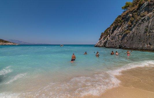 Zakynthos, Greece, Sea, Beach, Xigia Beach, Xigia