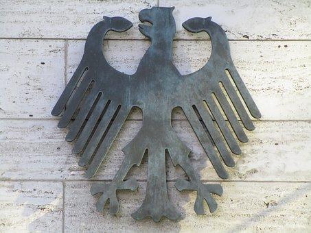 Federal Eagle, Adler, Heraldic Animal, Bundestag