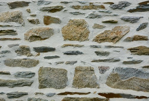 Stone Wall, Wall Separation, Architecture, Joints Lime