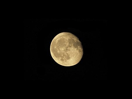 Moon, Astrophotography, Craters, The Fullness Of, Night
