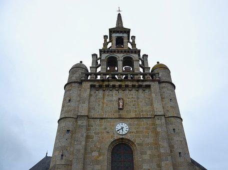 Church, Bell Tower, Lézardrieux, Brittany Coasts