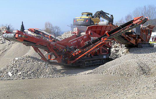 Building Rubble, Crusher, Excavators, Sorting Grapple