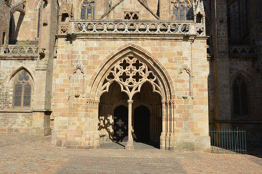 Cathedral, Portal, Stones, Porch, Arcade, Architecture