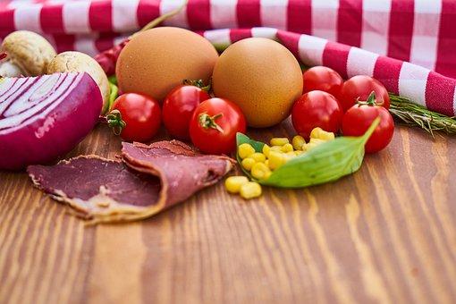 Bacon, Egg, Onion, Pepper, Egypt, Mushroom, Mushrooms