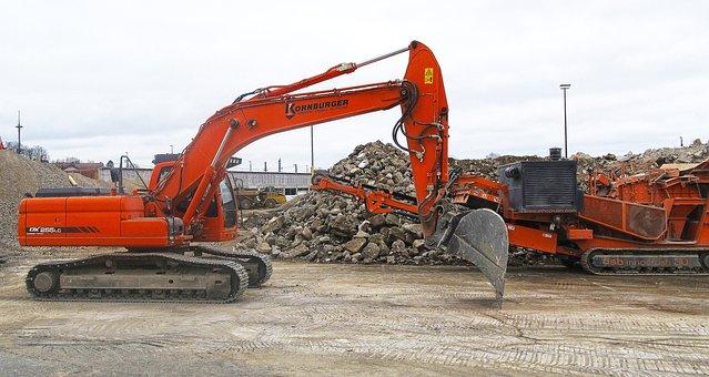 Excavators, Sorting Grapple, Demolition, Crash, Crusher