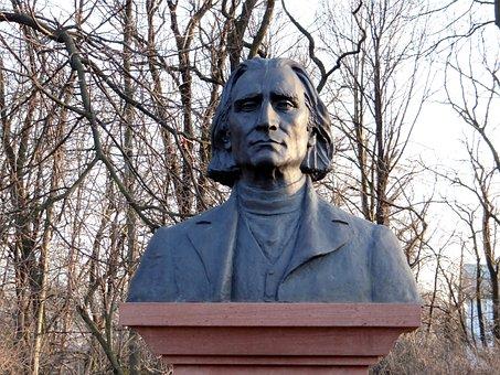 Franz Liszt, Bust, Monument, Composer, Figure, Park