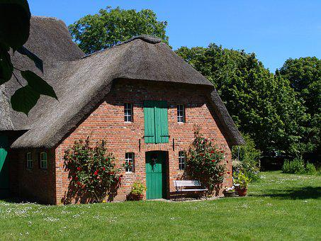 Home, Thatched Roof, Reed, Thatched, Northern Germany