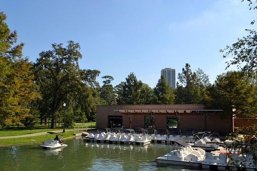 Peddle Boat Yard, Herman Park, Houston, Texas, White