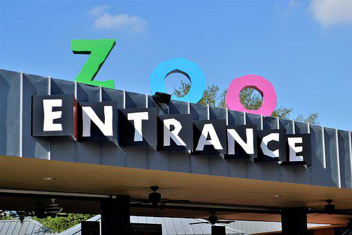 Herman Park Zoo, Entrance, Houston, Texas, Logo, Awning