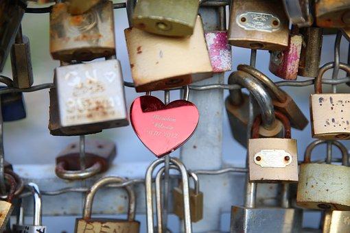 Key Bridge, Lock, Love Lock, Love, Bridge, Key, Symbol