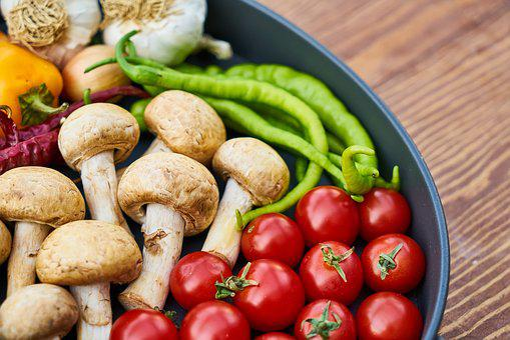 Mushroom, Pepper, Background, Nutrition, Backgrounds