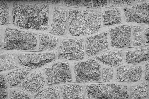 Wall, Wall Stones, Photo Black White, Nature