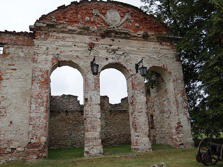 Gateway, Monument, Brick, The Ruins Of The, Poland