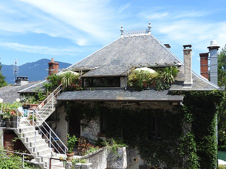 Roofing, Sky, House, France, Sing, Village