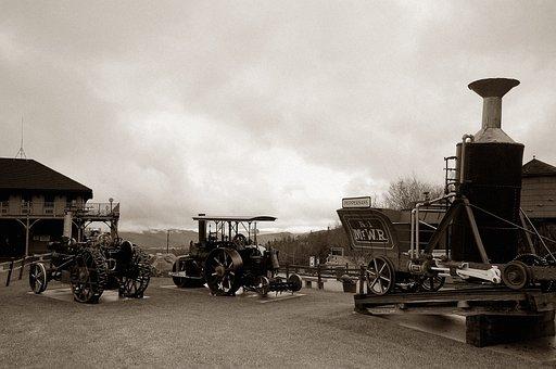 Nostalgia, Steam Locomotive, Historically, Metal, Old