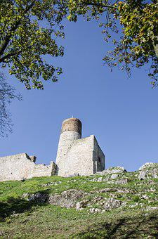 View, Checiny, Top View, Holycross, Old Castle, Castle