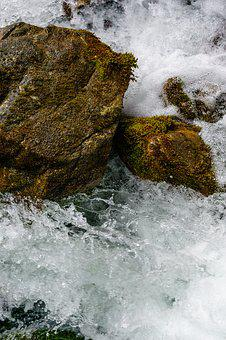 River, Flow, Water, Rock, Wet, Wild, Stone, Nature