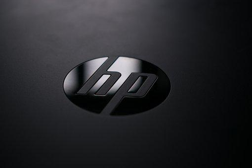 Logo, Hp, Hp Logo, Reflection, Mark, Chrome, Words