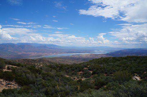 Four Peaks, Arizona, Mountain, Phoenix, Lake, Outdoors
