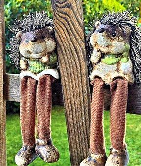 Hedgehog, Decoration Figures, Kantenhocker, Autumn