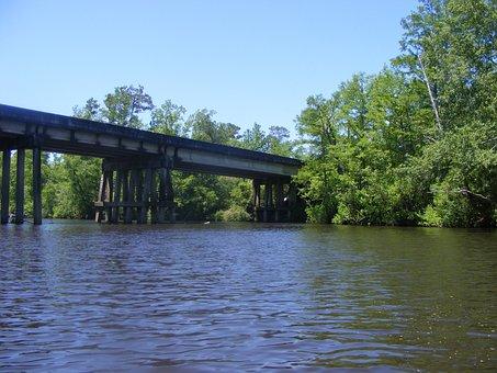 Creek, Bridge, Country Bridge, Water, Railroad Bridge