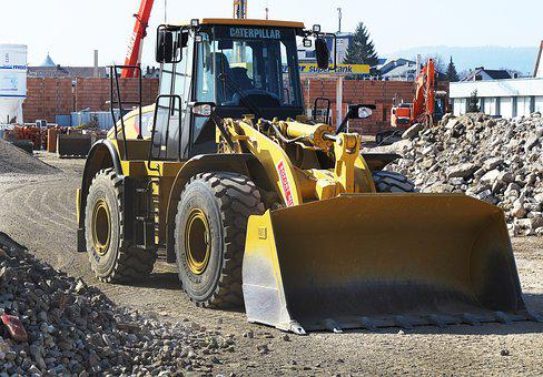 Wheel Loader, Building Rubble, Demolition, Crash