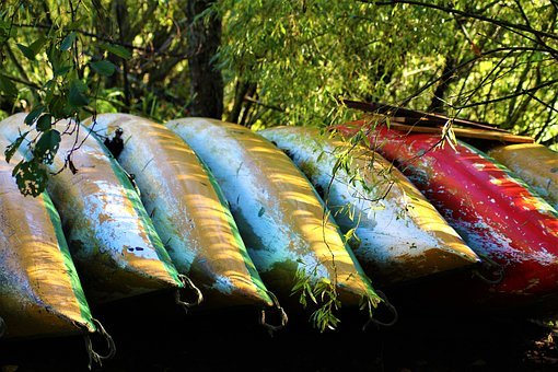 Canoeing, Boat, Lakeside, Stack, Collect, Collection