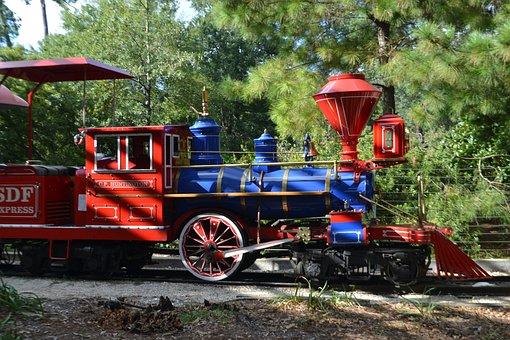 Engine Cab, Herman Park, Train, Children, Kids
