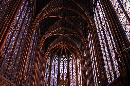Paris, Holy Chapel, Church, Cathedral, St Louis