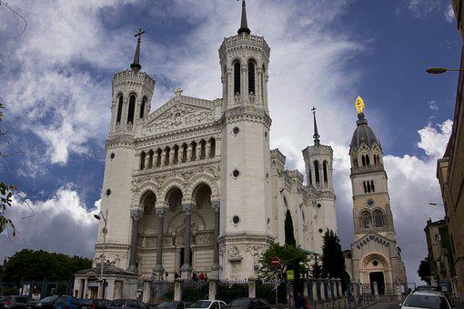 France, Lyon, Church, Worth Seeing, House Of Worship