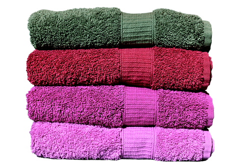Towels, Pink, Red, Grey, Colorful, Structure, Color
