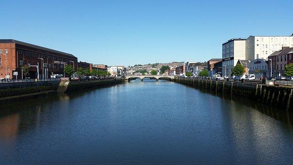 Cork, River, Irish, Scenic, Ireland, Urban