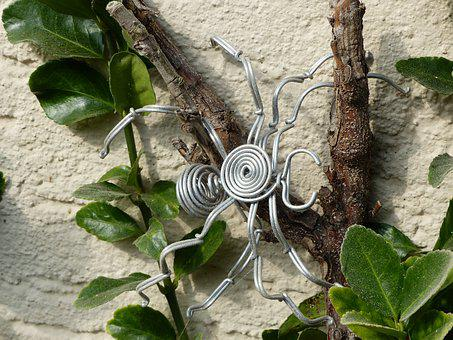 Spider, Art, Metal, Wire, Artistically, Abstract, Deco