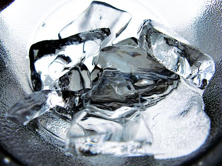 Ice, Water, Glass, Cold, Drink, Refreshment, Beverage