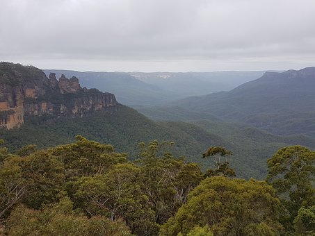 Australia, Three Sisters, Blue Mountains, Forest