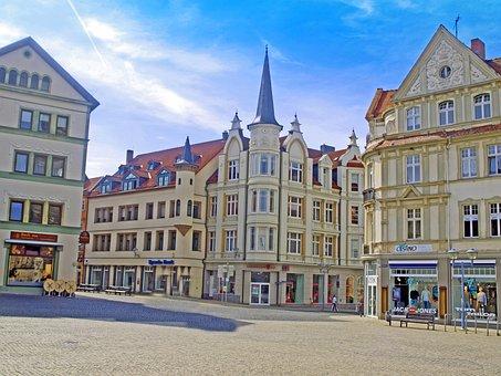 Gotha, Thuringia Germany, Marketplace