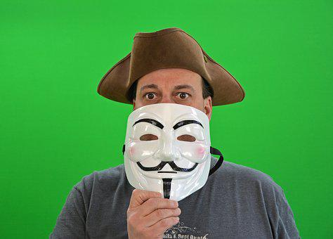 Chroma Key, Greenbox, Anonymous, Hacker, Anarchy, Mask