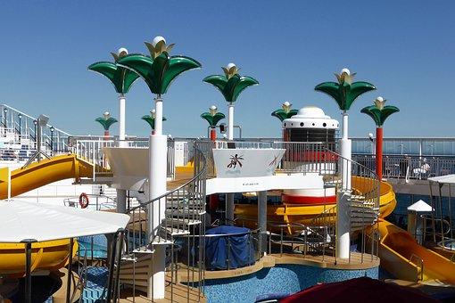 Holiday, Cruise Boat, Deck, Palm Tree, Lamp, Luxury