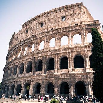 Kolosseum, Rome, Architecture, Romeriket, Sun, Italy