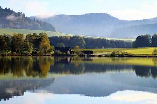 Klaffer, Austria, Lake, Mountain Landscape, Mirroring