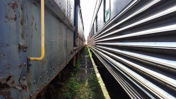 Train, Perspective, Locomotive, Station, Transportation
