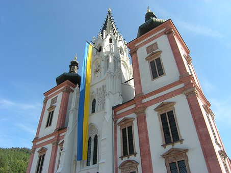 Mariazell, Cathedral, Church, Building, Pilgrimage