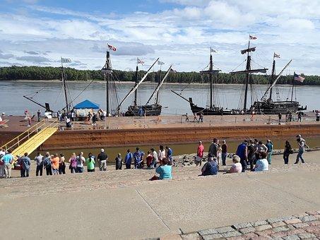 Nina And Pinta Replica Ships, Columbus Day, Nautical
