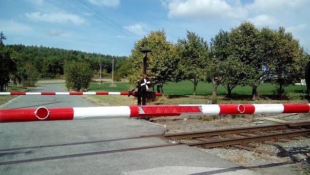 Track, Crossing, Curtains, Railway